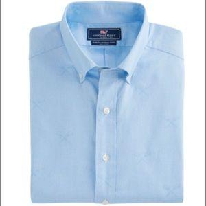 Vineyard Vines Lacrosse Printed Slim Murray Shirt
